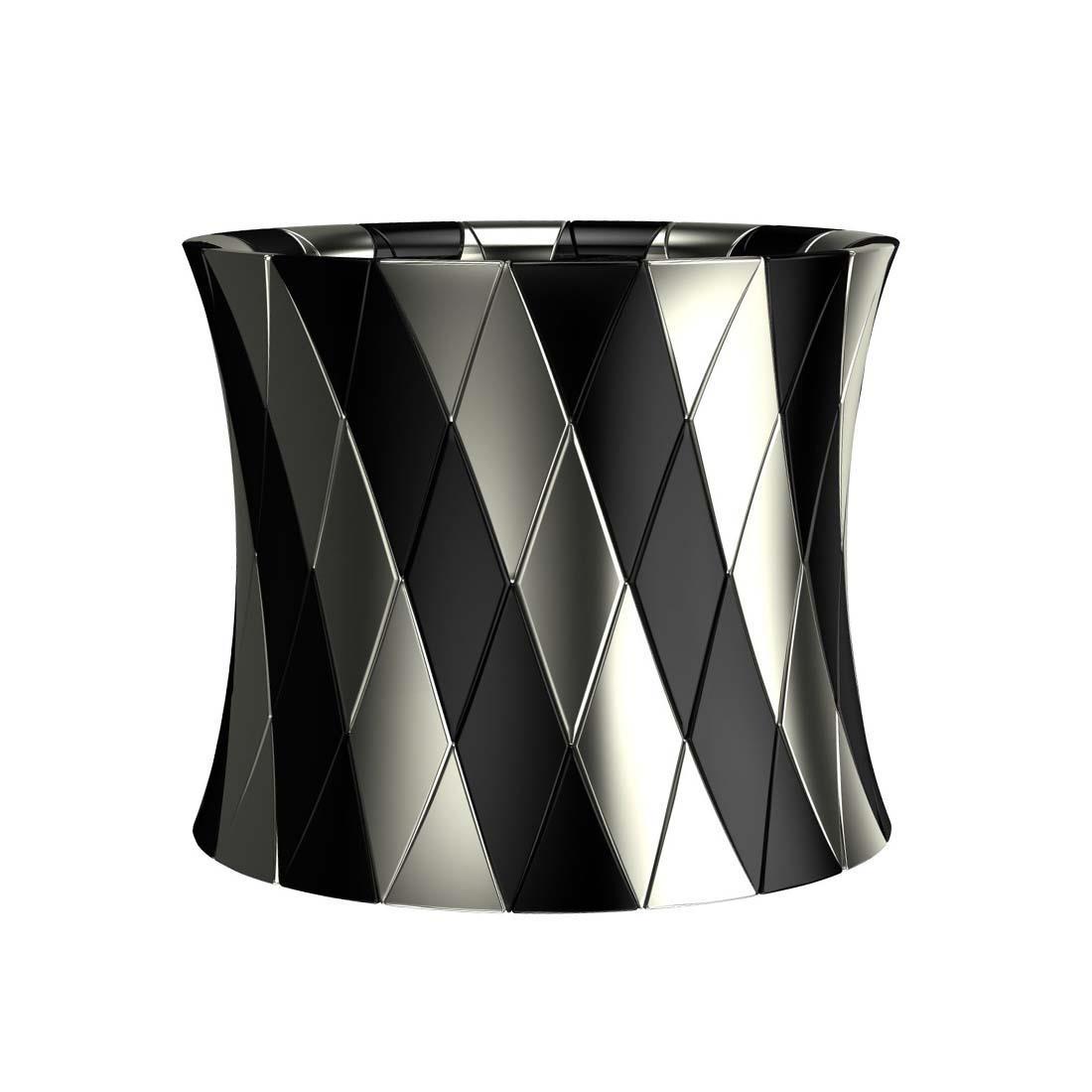 Bracciale in ceramica nera e dorata - ROBERTO DEMEGLIO