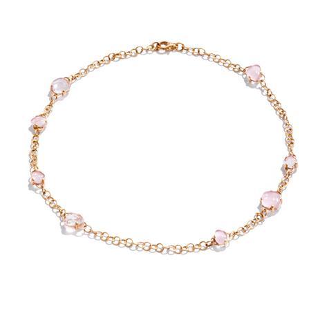 Rose gold necklace with rose quartz - POMELLATO