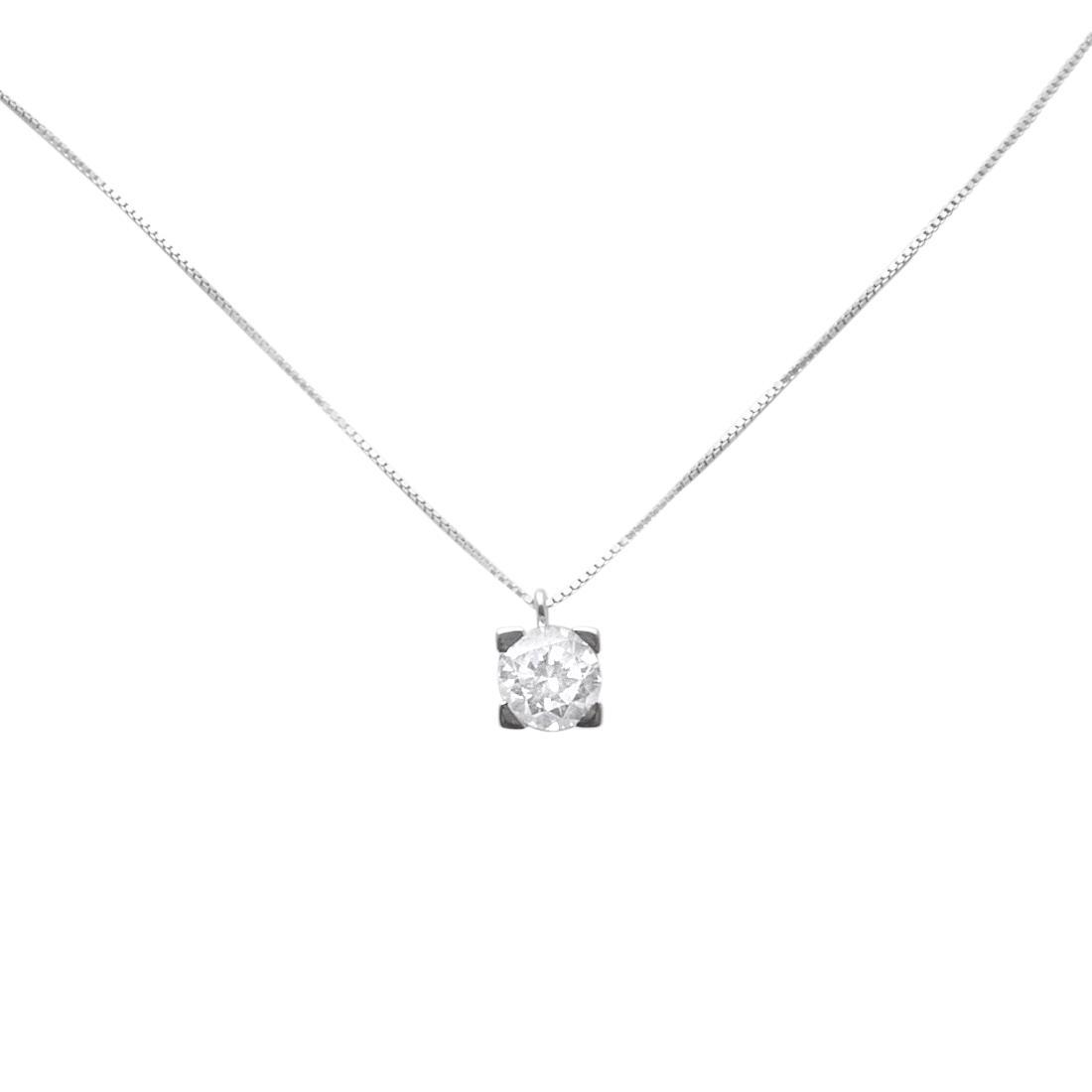 Collana con diamante ct. 0,80 - ORO&CO
