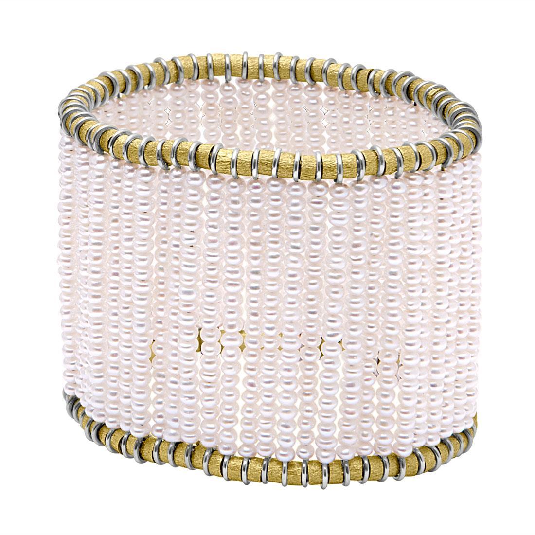 Bracciale in oro giallo e perle - ROBERTO DEMEGLIO