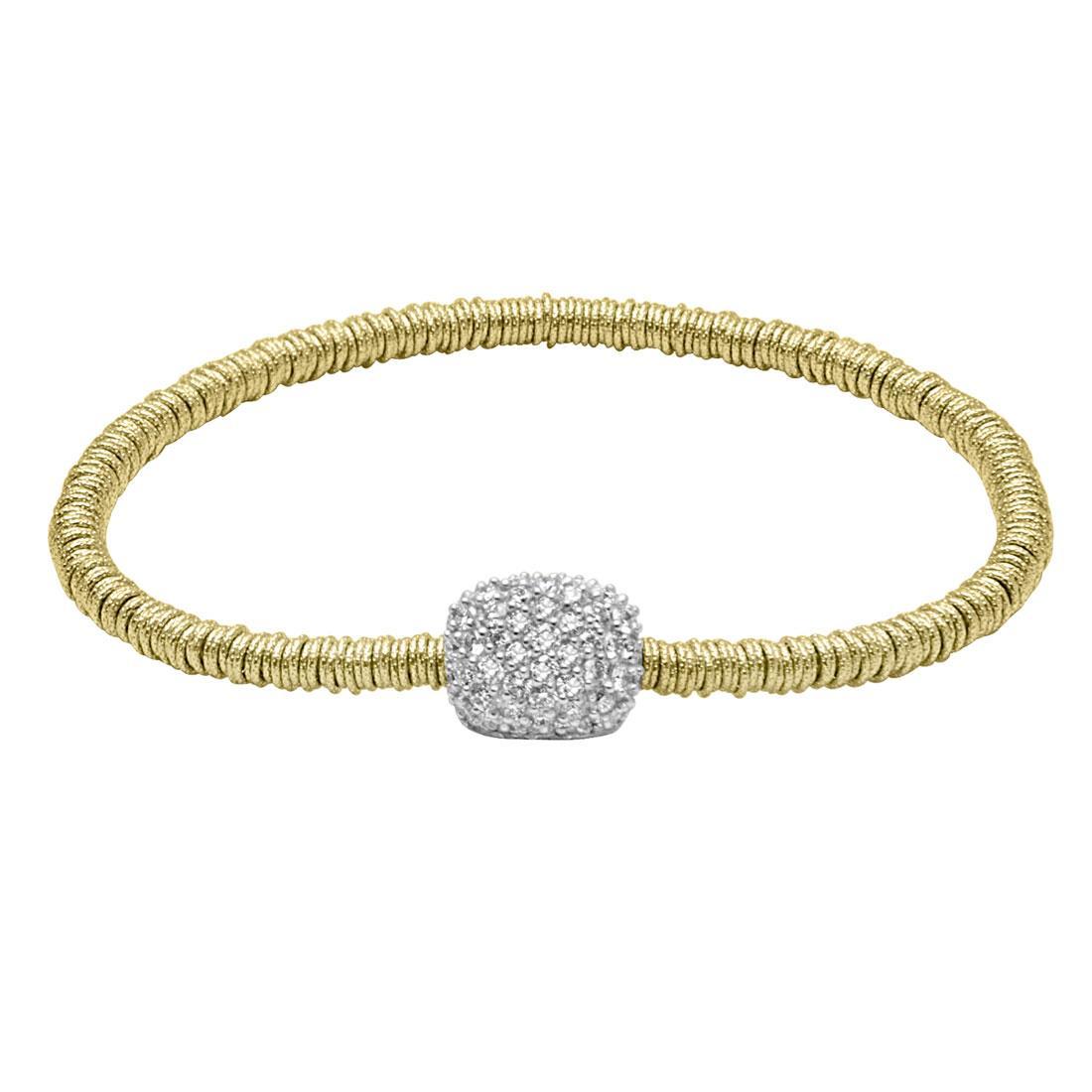 Bracciale in oro giallo con cuscino in diamanti - ROBERTO DEMEGLIO
