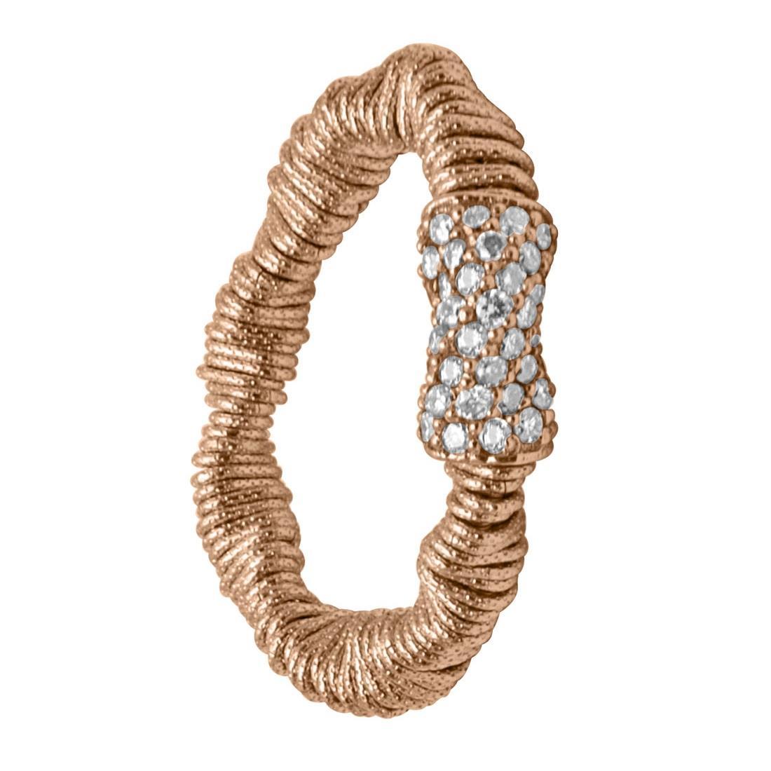 Anello in oro rosa con diamanti bown 0.37 ct - ROBERTO DEMEGLIO