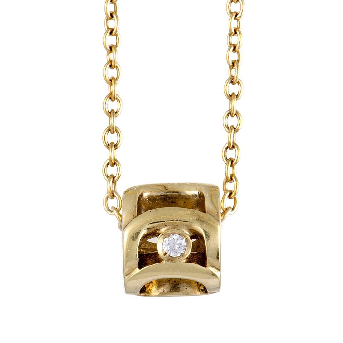 Collana in oro giallo con diamante - DAMIANI