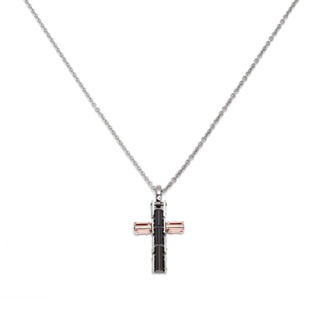 Collana con croce in ceramica - BARAKA