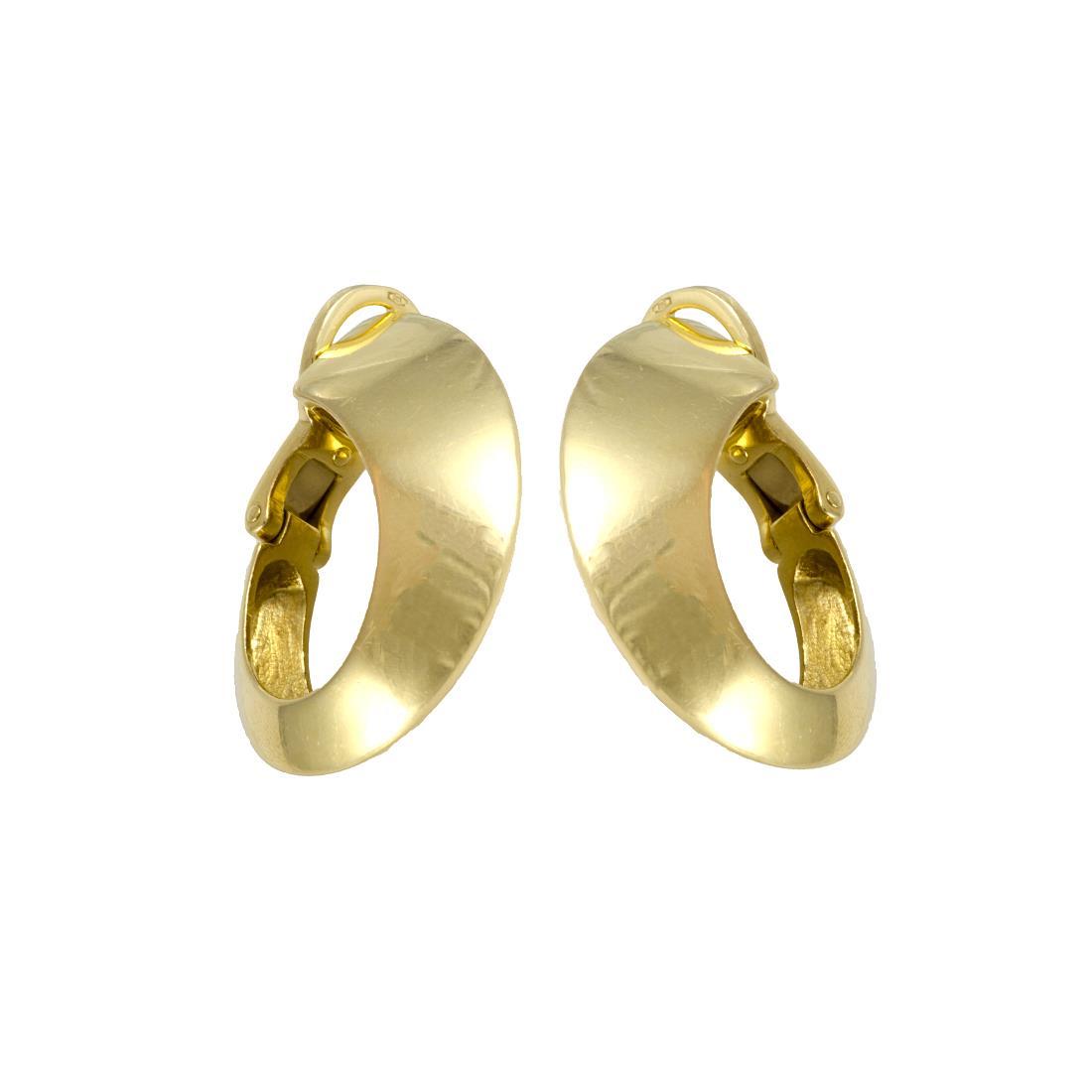 Orecchini design in oro giallo - POMELLATO