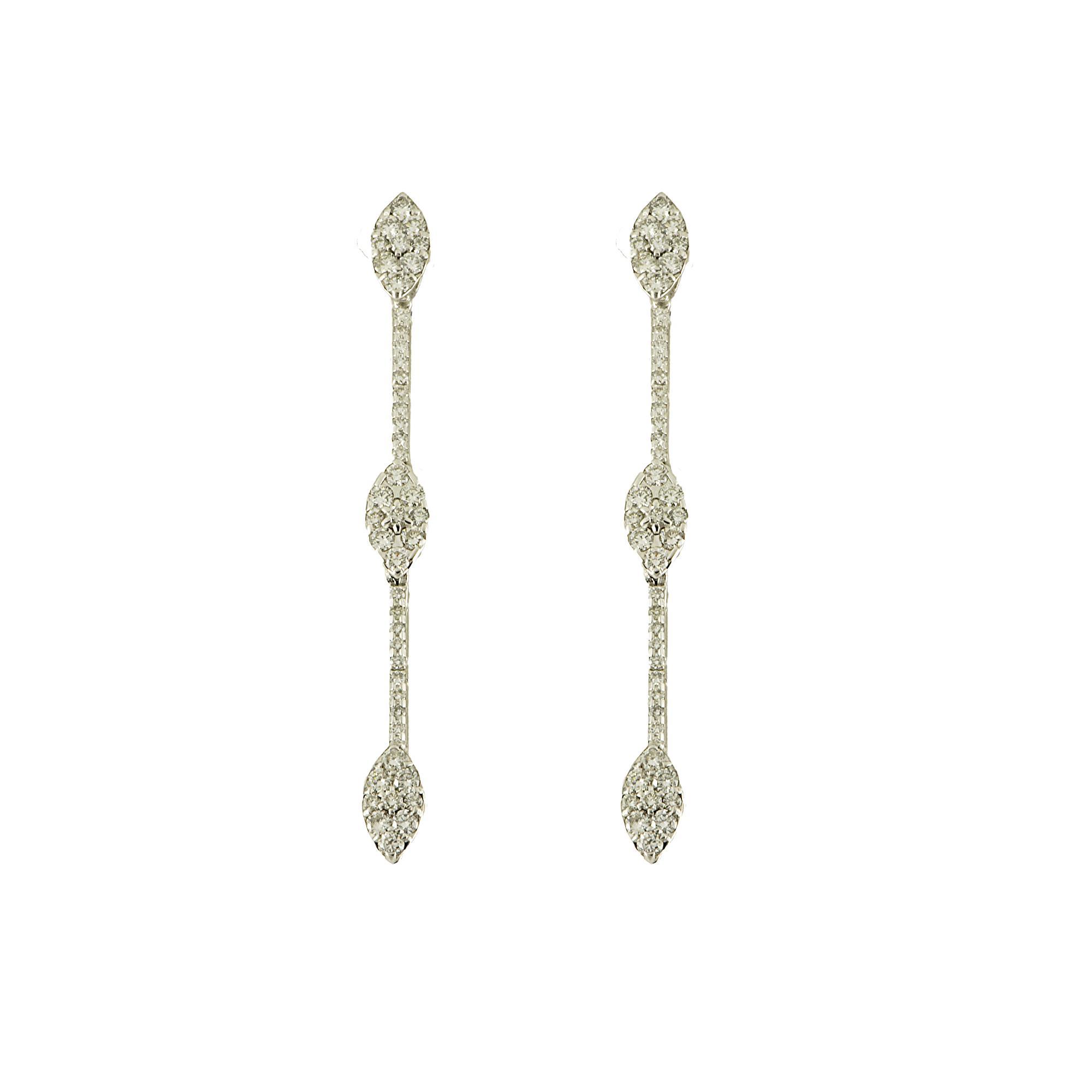 Orecchini in oro bianco e diamanti ct 1.04 - ROBERTO DEMEGLIO