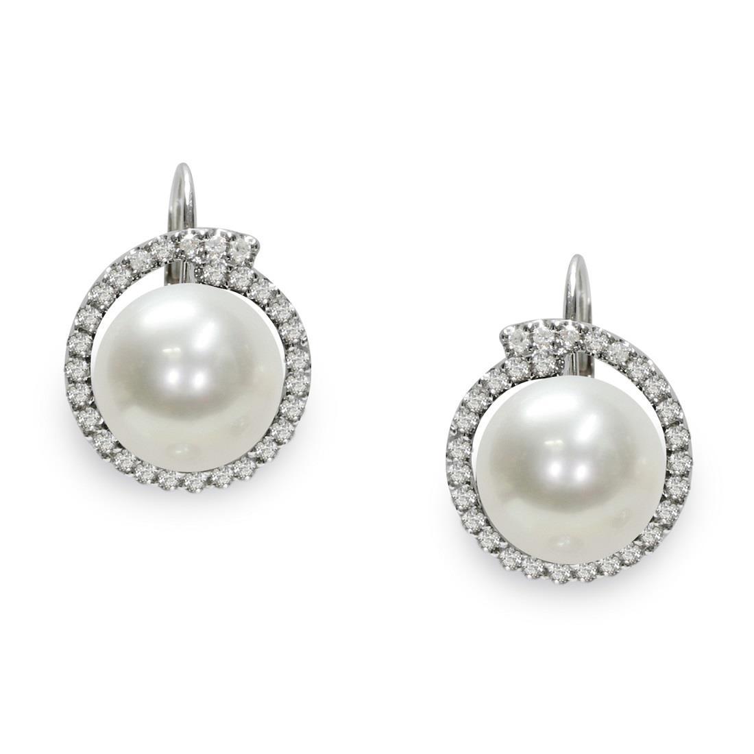 Orecchini con diamanti e perle - MAYUMI