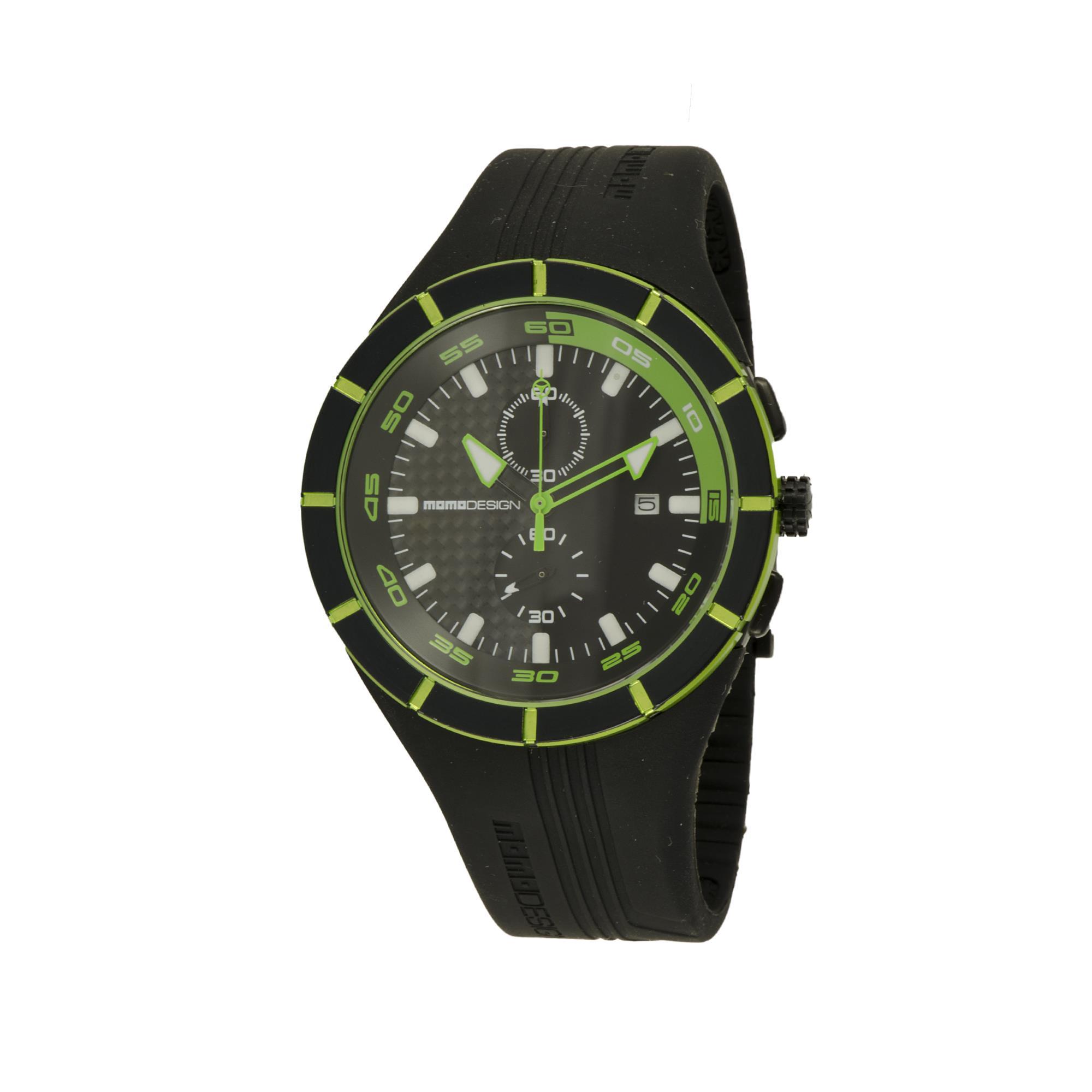 OROLOGIO HIGHWAY BLACK AND GREEN 46 MM - MOMO DESIGN