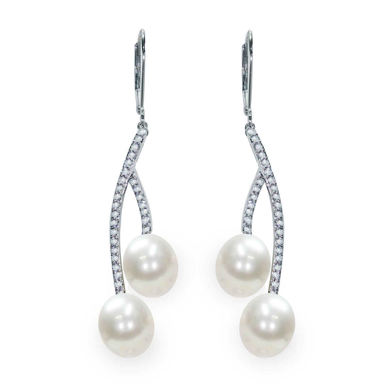 Orecchini pendenti con perle - MAYUMI