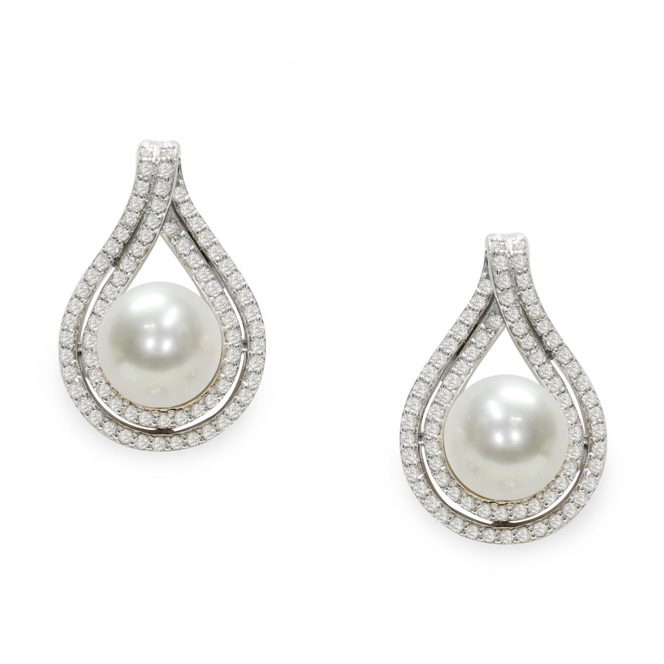 Earrings with pearls - MAYUMI