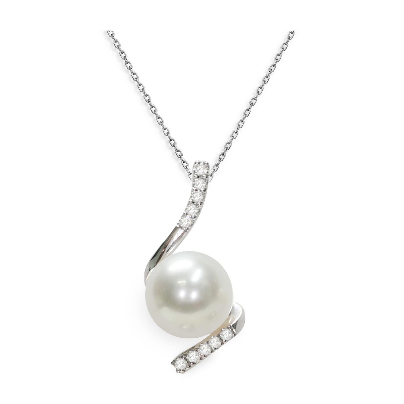Collana con perla Akoya e diamanti - MAYUMI