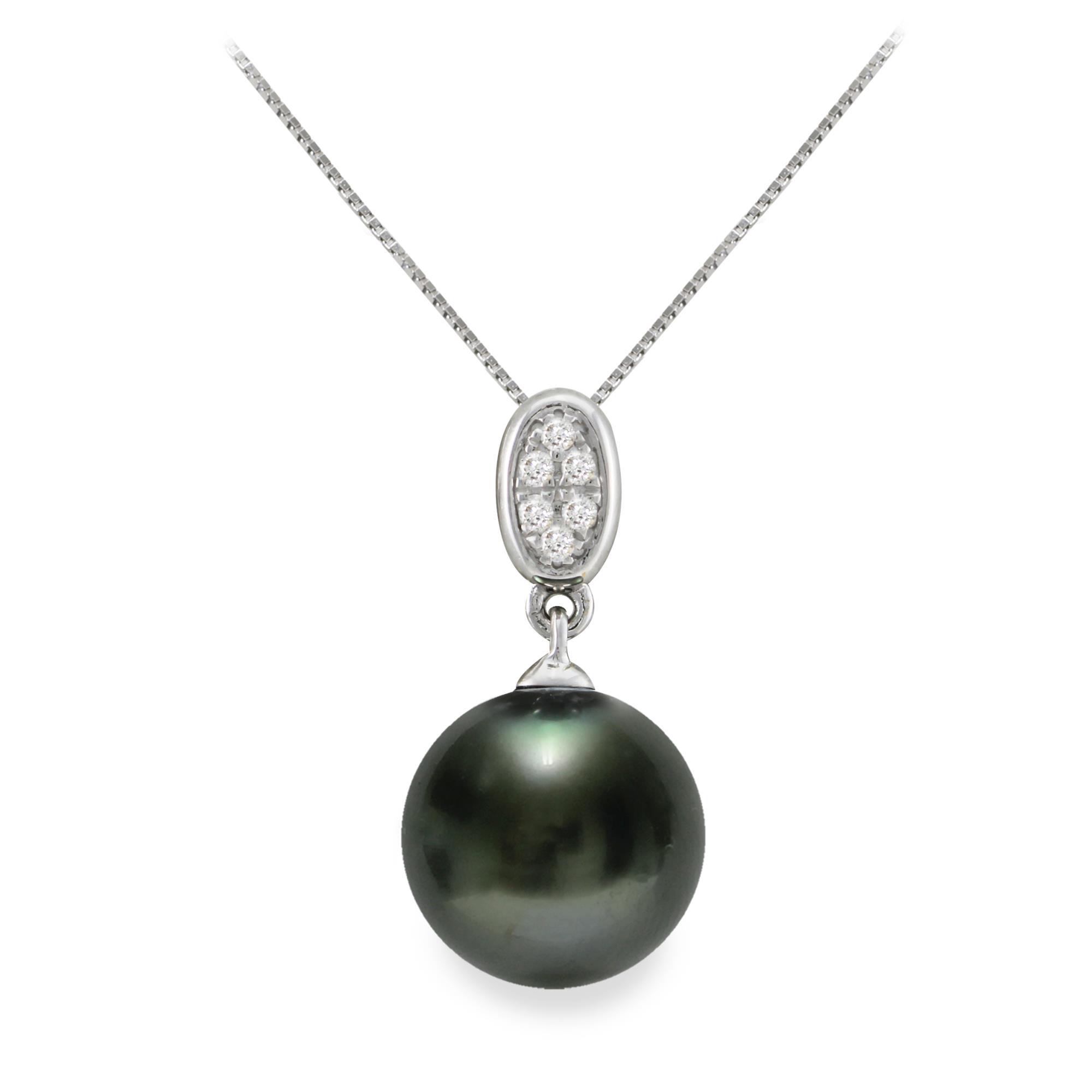 Collana con diamanti e perla tahiti - MAYUMI