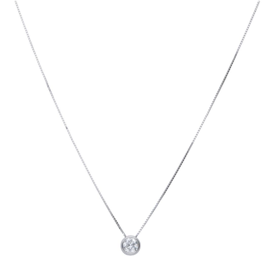 Collana punto luce diamante ct. 0,48 - ALFIERI & ST. JOHN