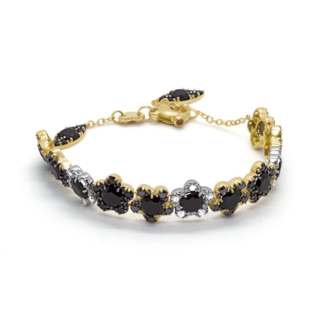Bracciale in oro bianco e giallo con diamanti - PASQUALE BRUNI