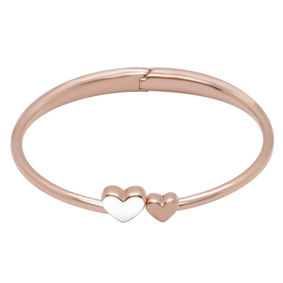 Bracciale Tommy Hilfiger Kissing Heart in acciaio rosato - TOMMY HILFIGER