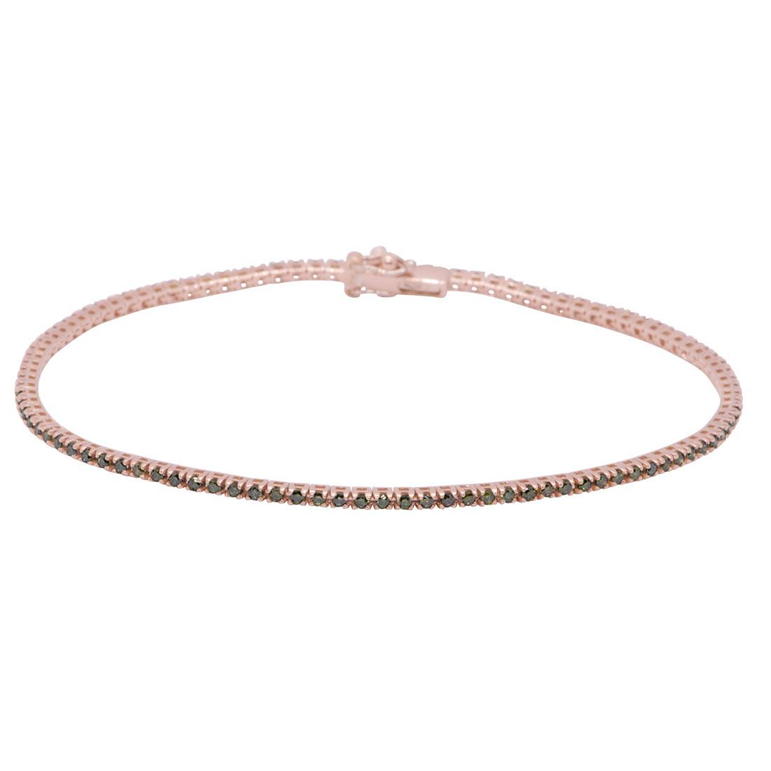 Bracciale tennis in oro rosa con diamanti 0,85 ct - ORO&CO