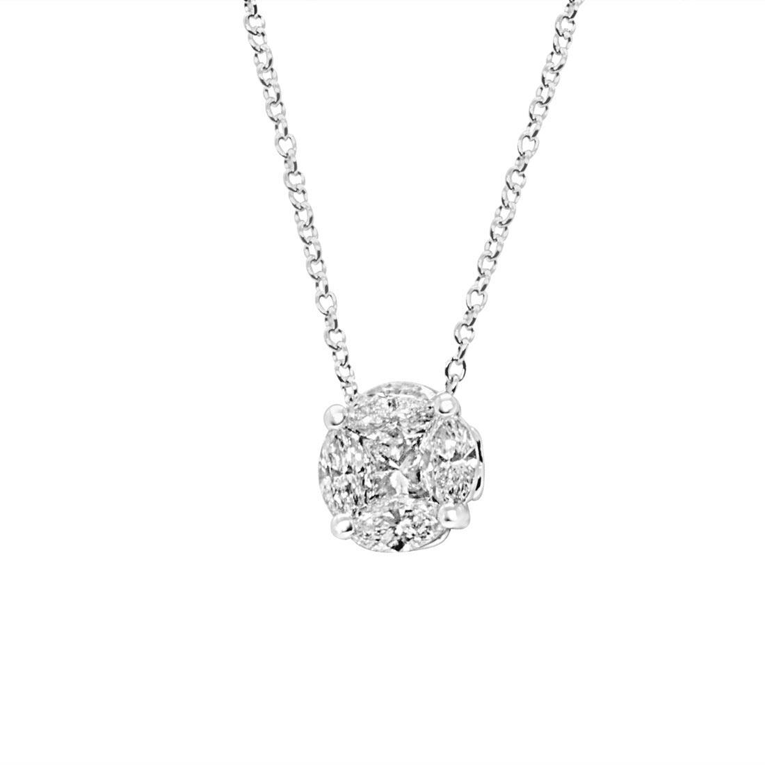 Collana punto luce con diamanti 0,80 ct - ALFIERI ST JOHN