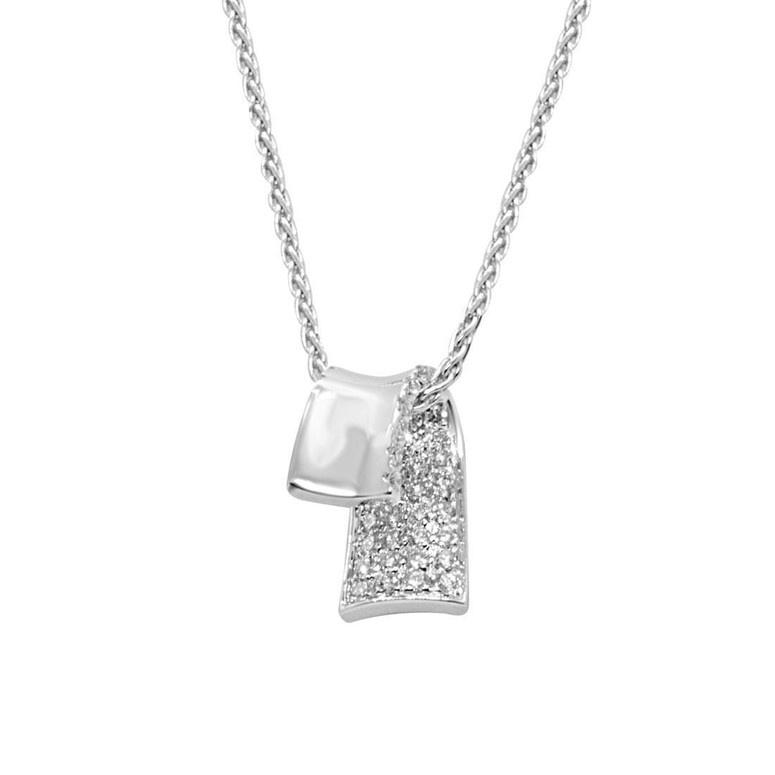 Collana in oro bianco con pendente - ALFIERI & ST. JOHN