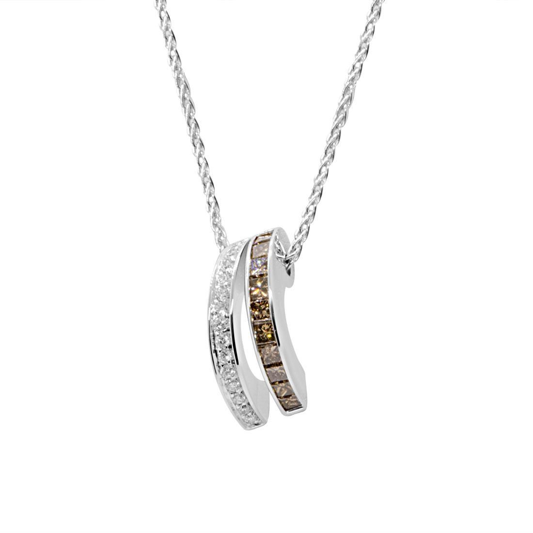 Collana in oro bianco, pendente con diamanti 1,08 ct - ALFIERI & ST. JOHN