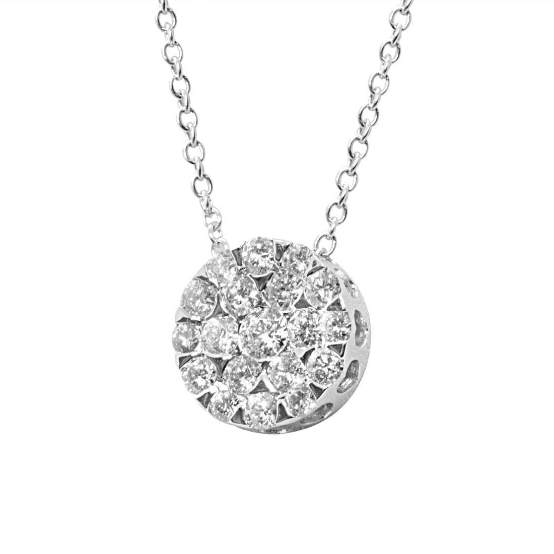 Collana punto luce in oro bianco con diamanti 0,62 ct - ALFIERI ST JOHN