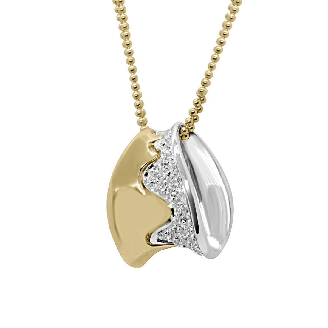 Collana in oro bianco e giallo con diamanti  - ALFIERI & ST. JOHN