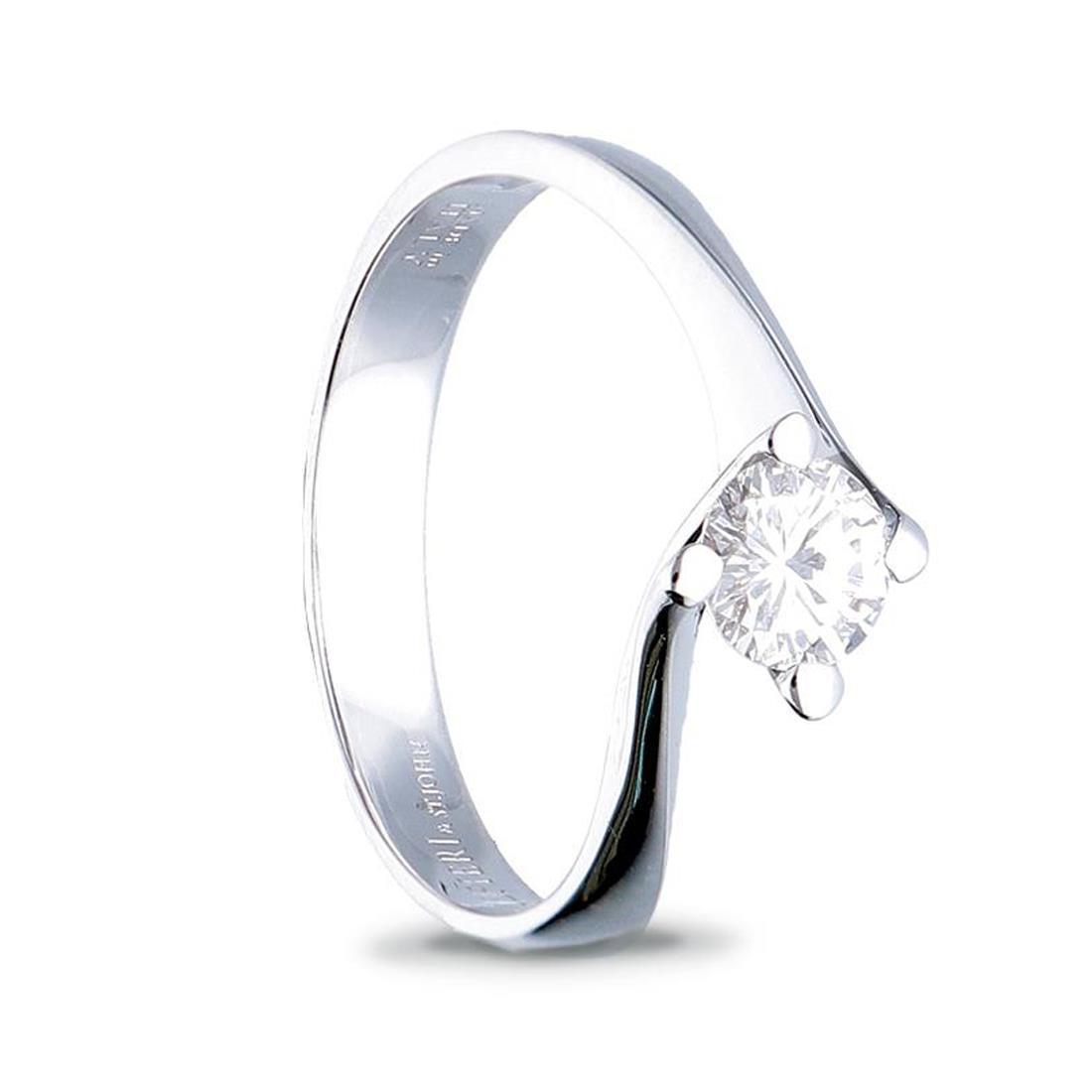 Anello solitario con diamante ct. 0,25 - ALFIERI & ST. JOHN