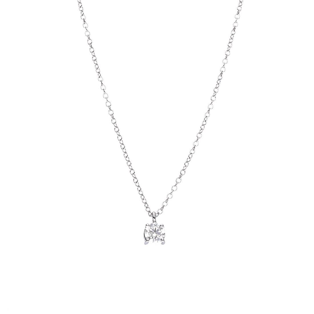 Collana punto luce in oro bianco con diamante 0.31 ct - ALFIERI & ST. JOHN