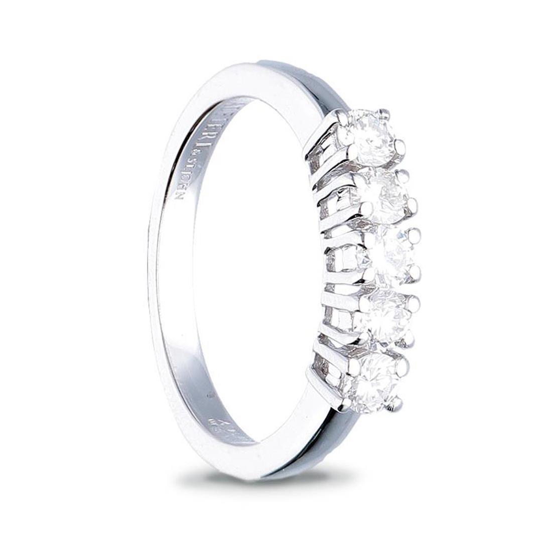 Anello veretta con diamanti ct. 0,80 - ALFIERI & ST. JOHN
