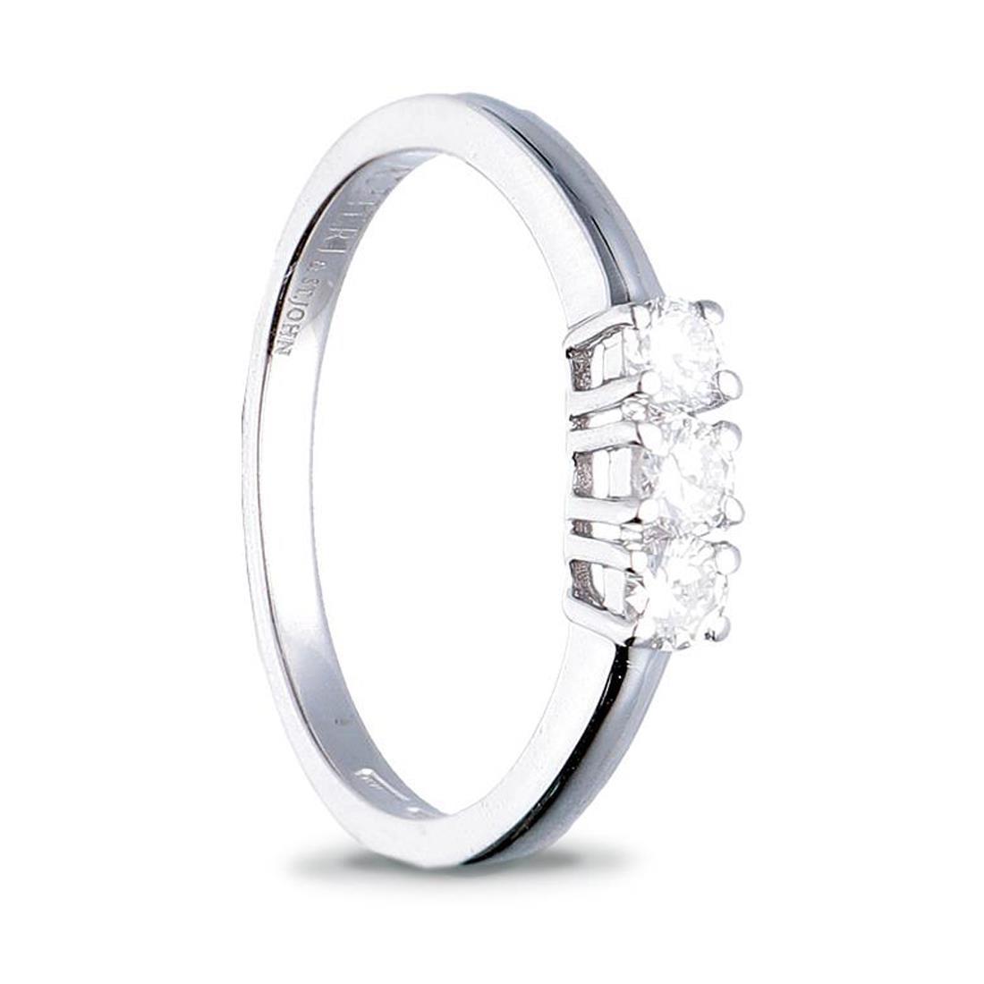 Anello trilogy con diamanti ct. 0,30 - ALFIERI & ST. JOHN