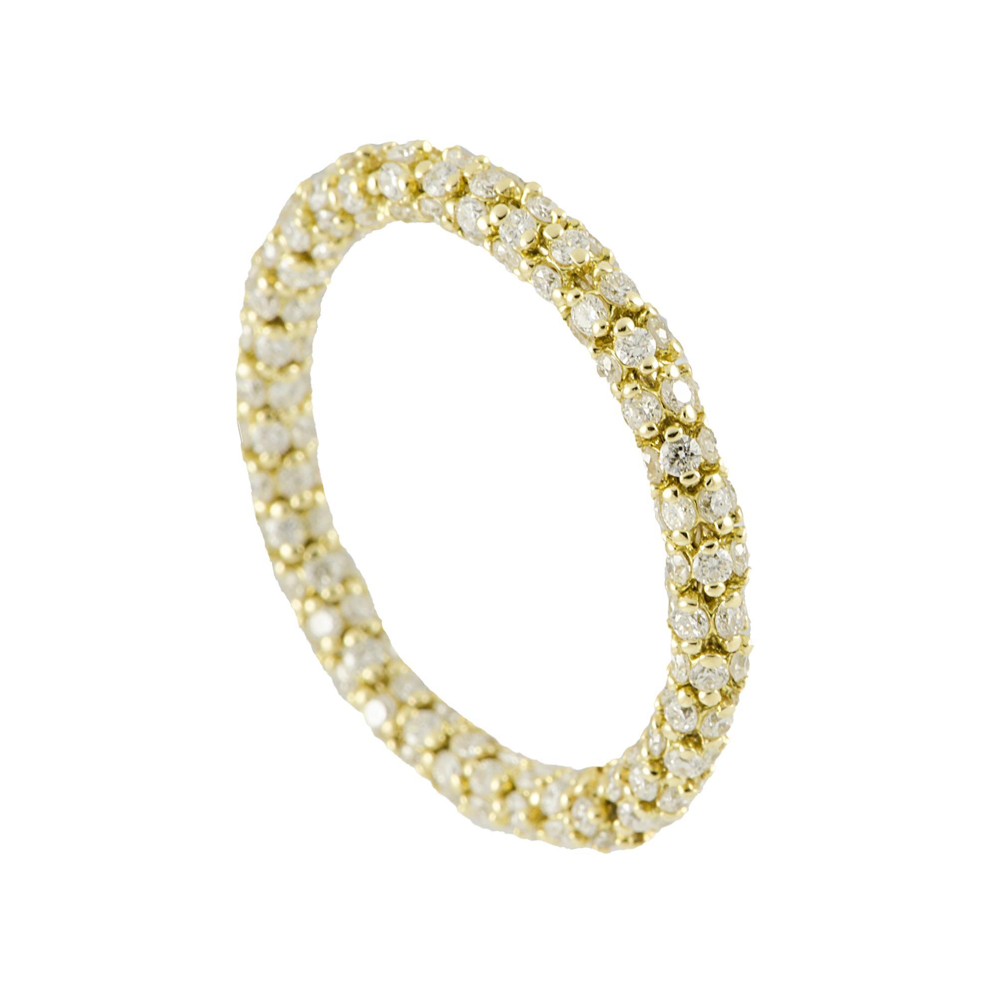 Anello in oro giallo e diamanti ct 1.50, misura 18  - ROBERTO DEMEGLIO
