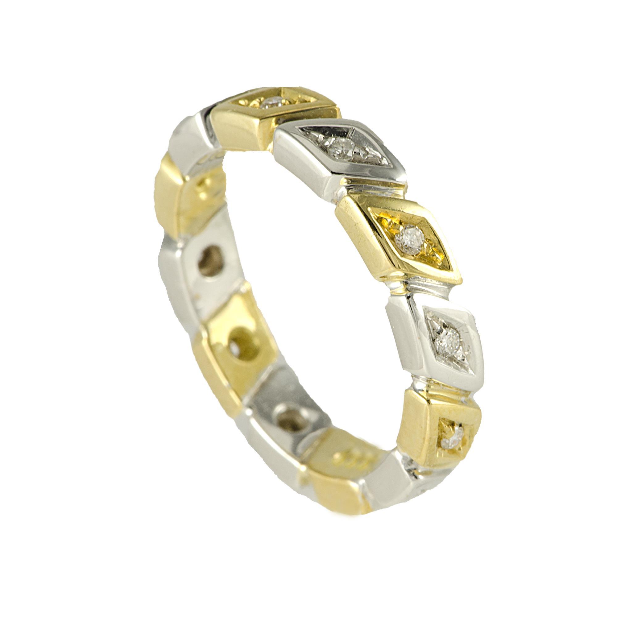 Anello Oro & Co in oro giallo e oro bianco - ALFIERI & ST. JOHN