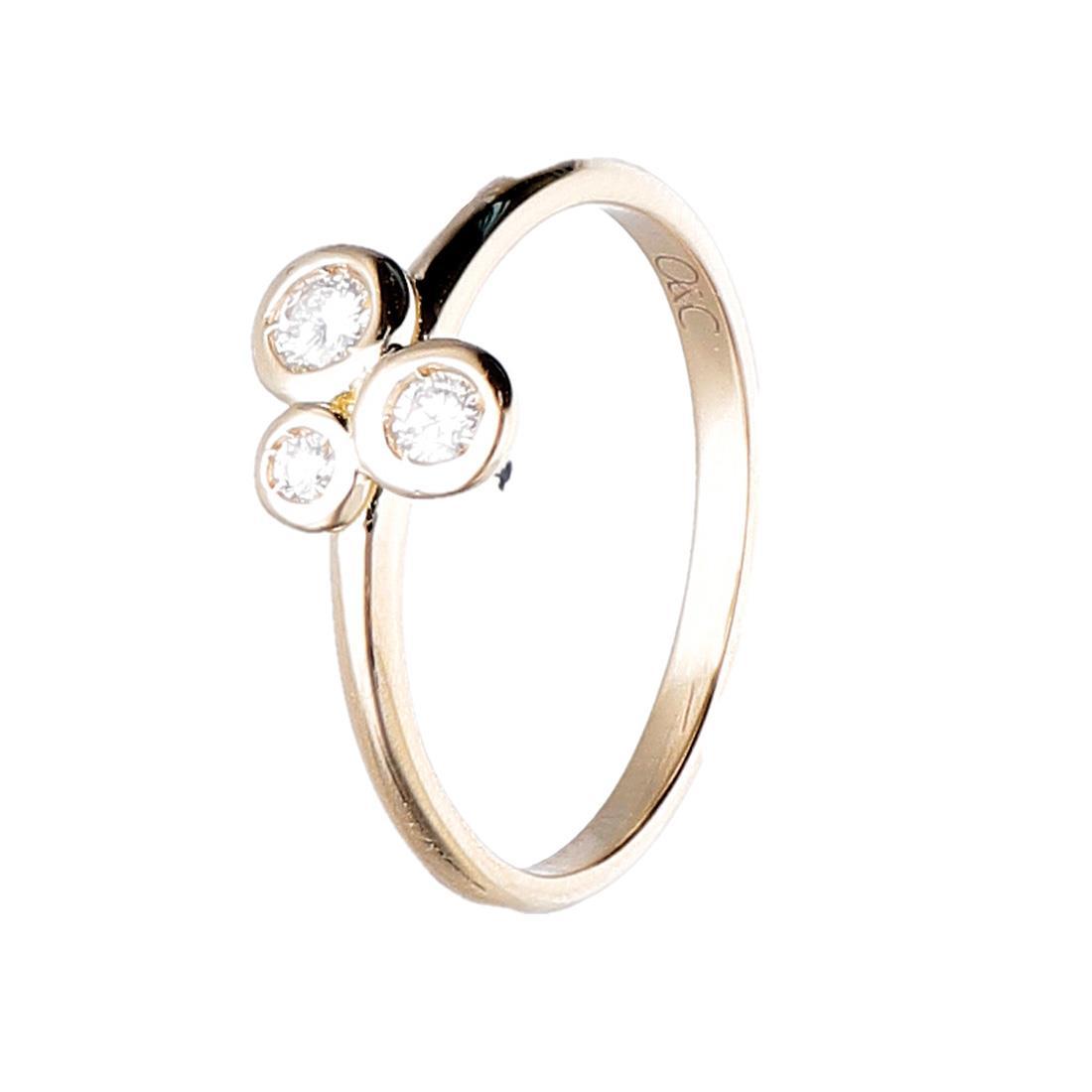 Anello Oro&Co in oro giallo con diamanti ct 0,15 - ORO&CO