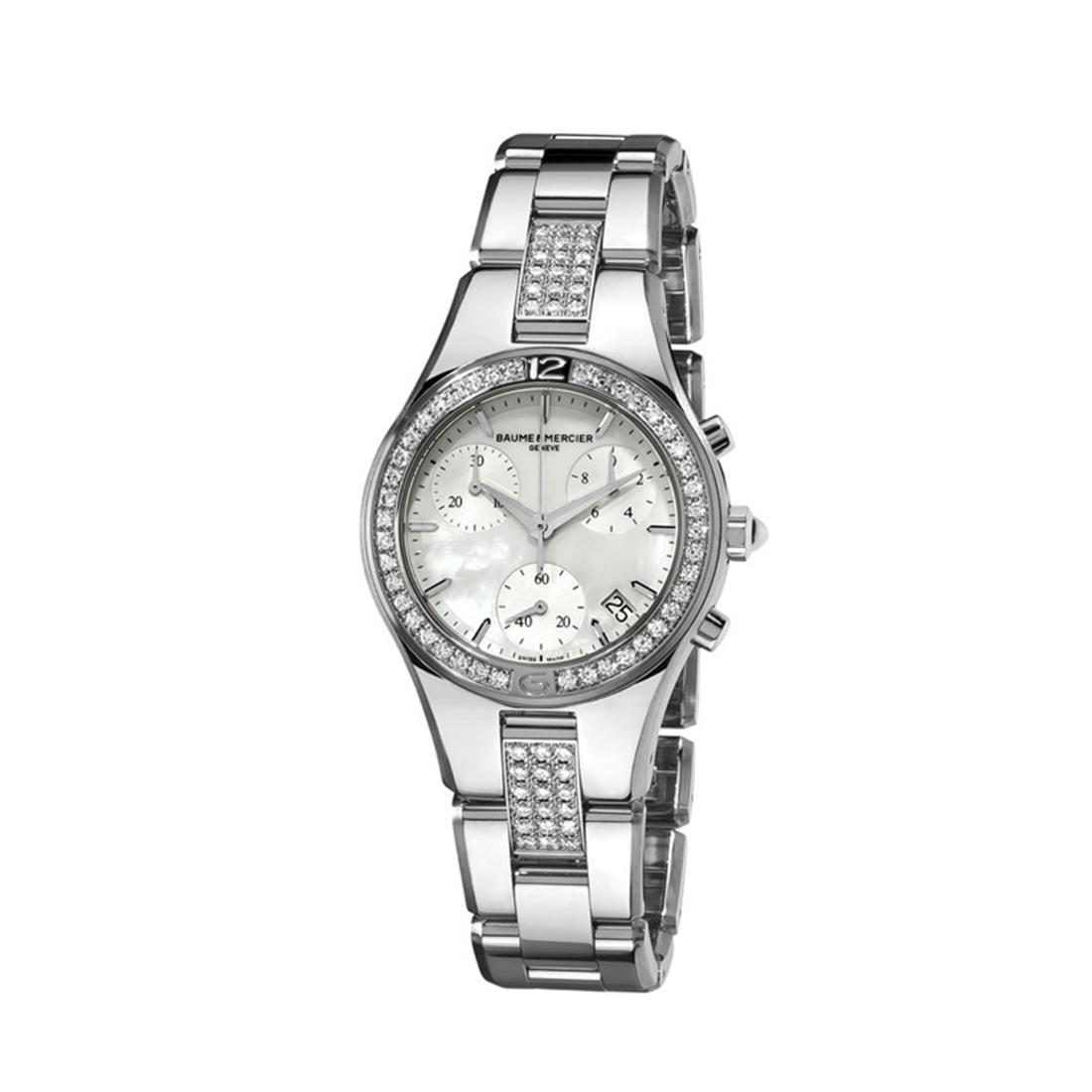 Orologio donna con diamanti, cassa 32mm - BAUME & MERCIER