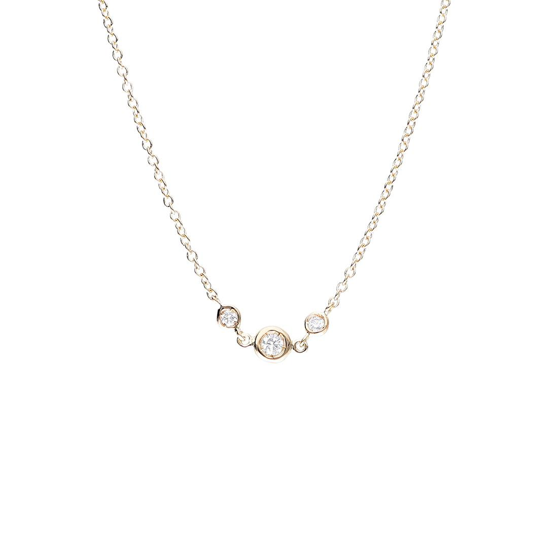 Collana Oro&Co in oro giallo con 3 diamanti ct 0,09 - ORO&CO
