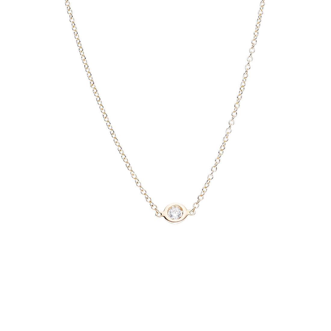Collana Oro&Co in oro giallo con diamante ct 0,05 - ORO&CO