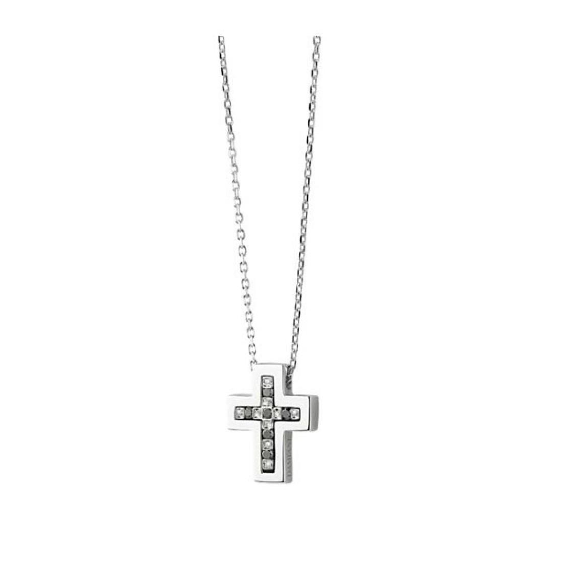 Collana con croce e diamanti - DAMIANI