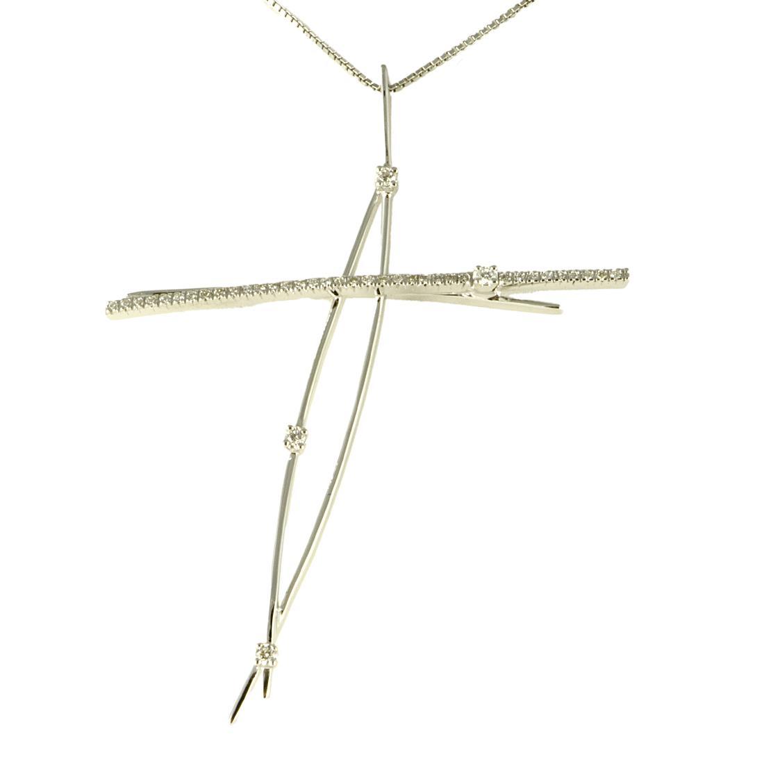Collana design con diamanti - ORO&CO