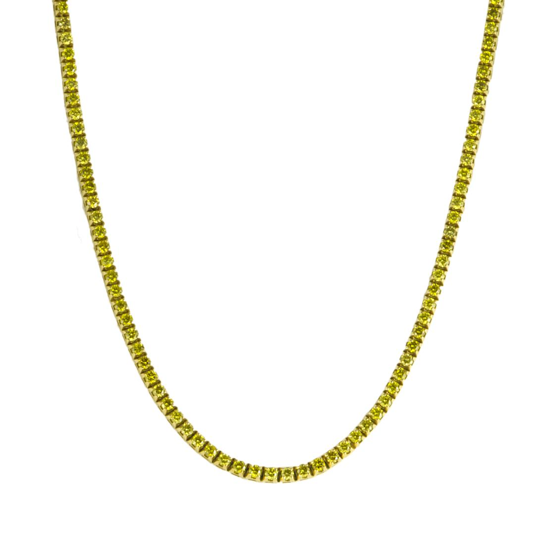 COLLIER IN ORO GIALLO E DIAMANTI CT 8,5 - ORO&CO