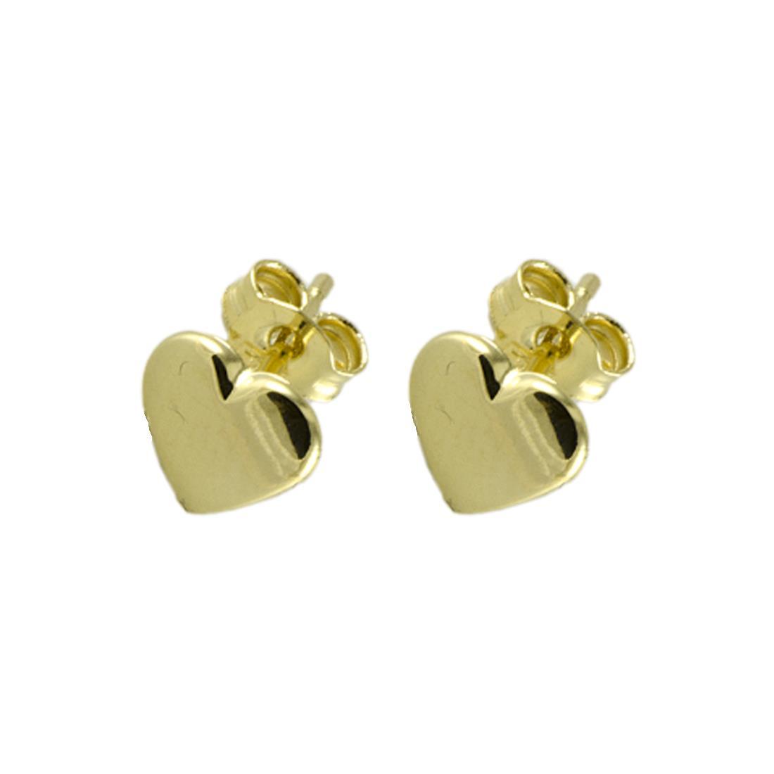 Orecchini  in oro giallo a forma di cuore - ORO&CO
