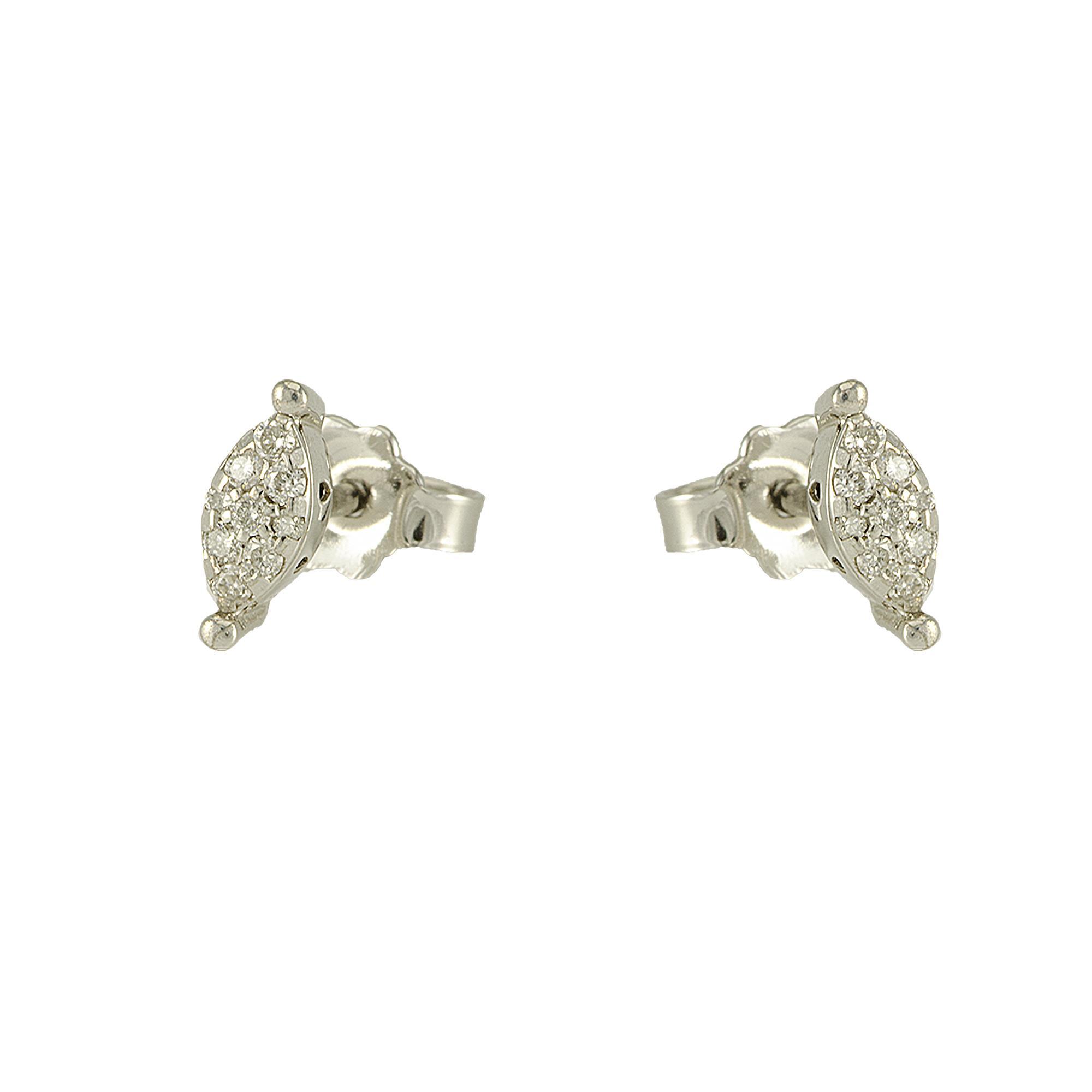 Orecchini in oro bianco e diamanti ct 0.12  - ROBERTO DEMEGLIO