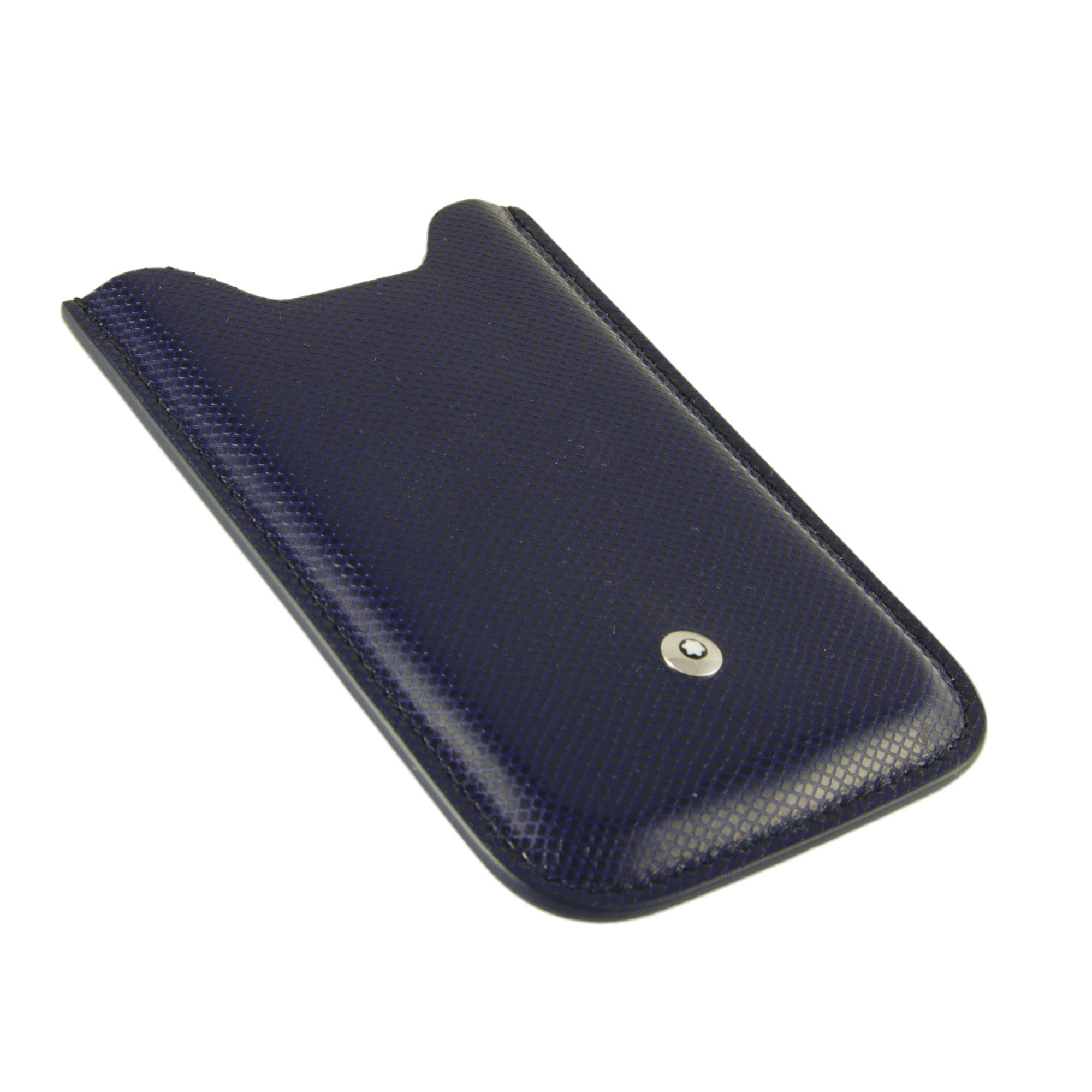 CUSTODIA PER SMARTPHONE IN PELLE BLU - MONTBLANC