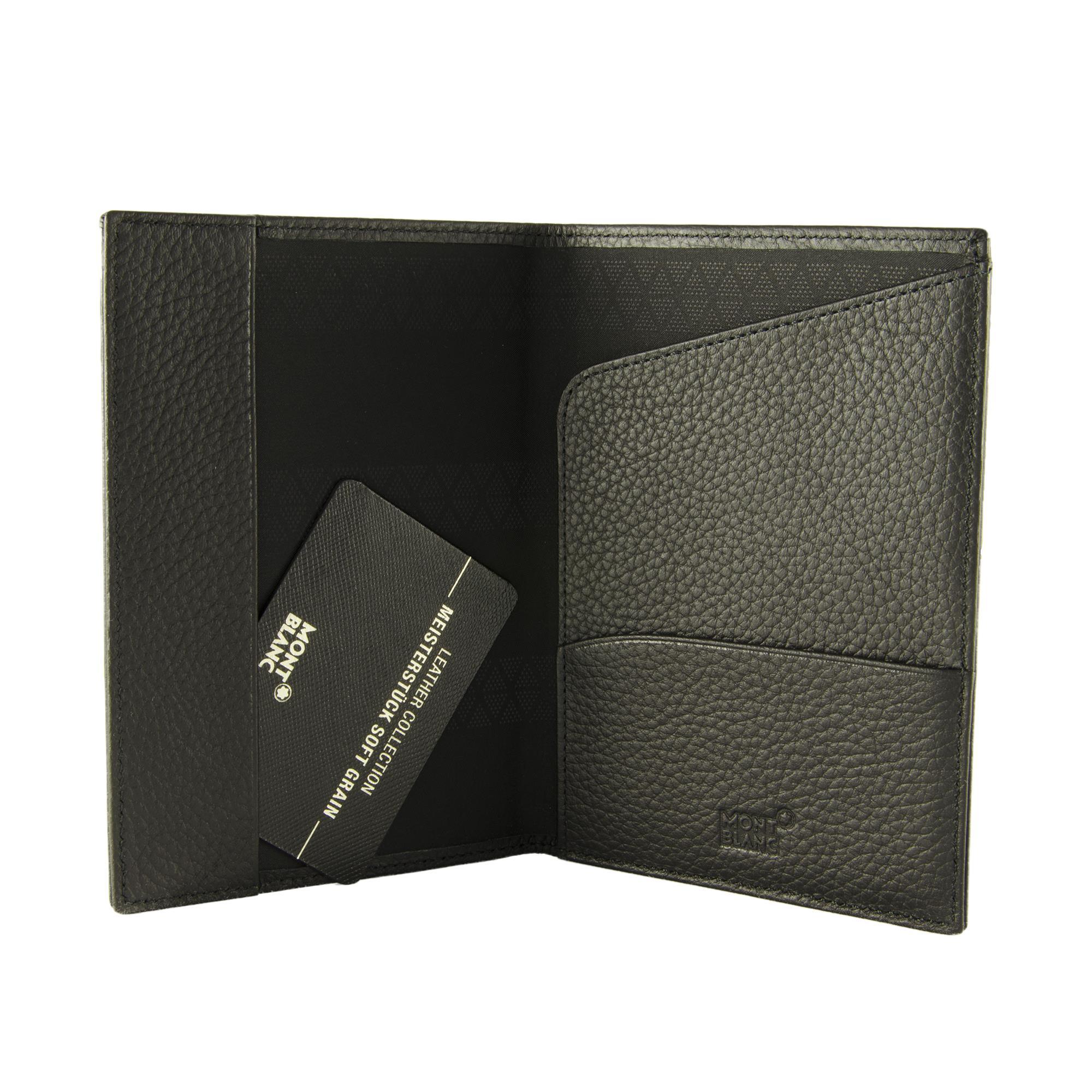 Porta Passaporto In Pelle Nera Montblanc Luxuryzone
