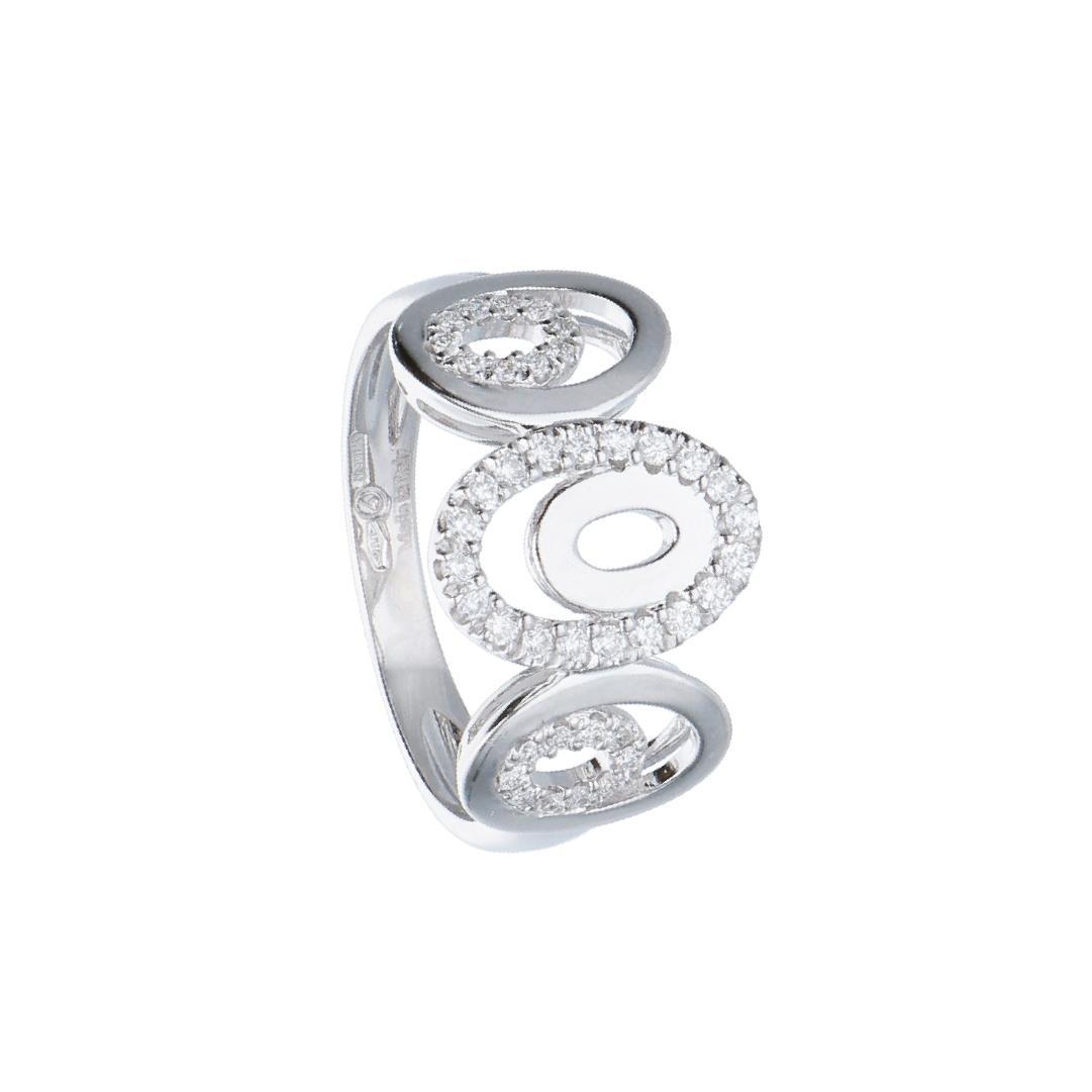 Anello in oro bianco con diamanti ct. 0,25 - ALFIERI & ST. JOHN