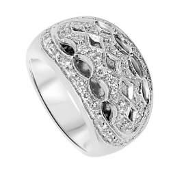 Anello Oro & Co in oro bianco e diamanti 0.73 ct, misura 12 - ORO&CO