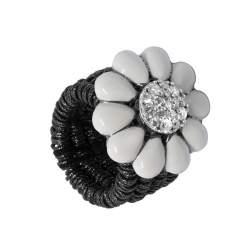 Anello semirigido in argento con diamanti 0.50 ct, misura regolabile - ROBERTO DEMEGLIO