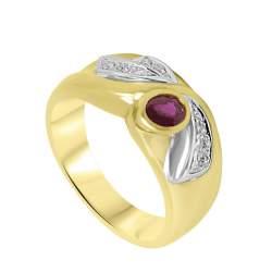 Anello Oro & Co in oro bianco e giallo con diamanti ct 0,10 mis 15 - ORO&CO