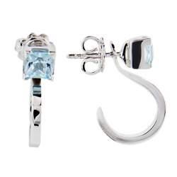Orecchini con pietra semipreziosa azzura e diamanti ct 0.01 - ALFIERI & ST. JOHN