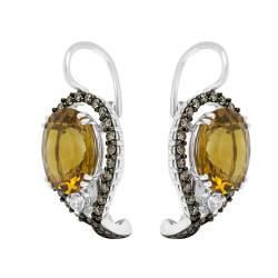 Orecchini in oro bianco con pietre semipreziose - ALFIERI & ST. JOHN