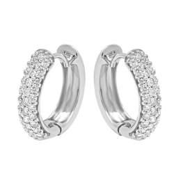 Orecchini in oro bianco con diamanti ct 0.75 - ALFIERI & ST. JOHN