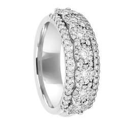 Anello in oro bianco con diamanti ct 0.66, misura 13 - RECARLO